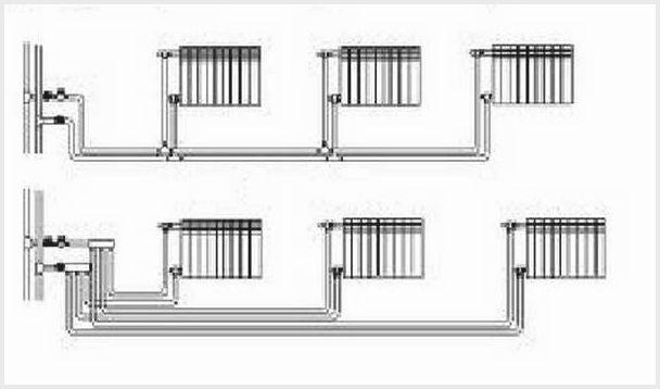 двухтрубная система отопления частного дома: схемы и советы по монтажу