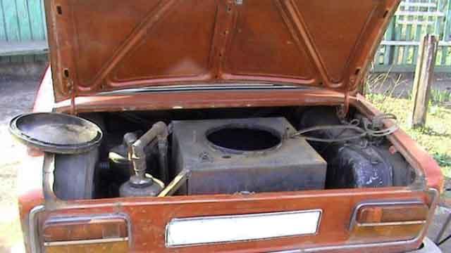 Установка газгена в багажник автомобиля