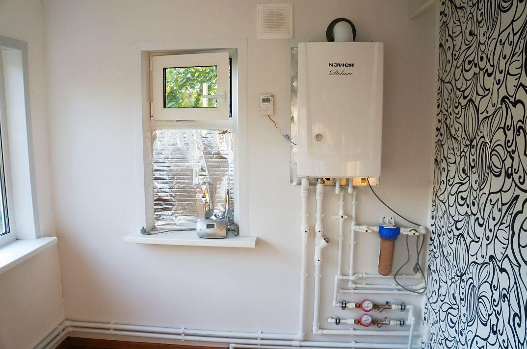 Пример установки настенного газового котла