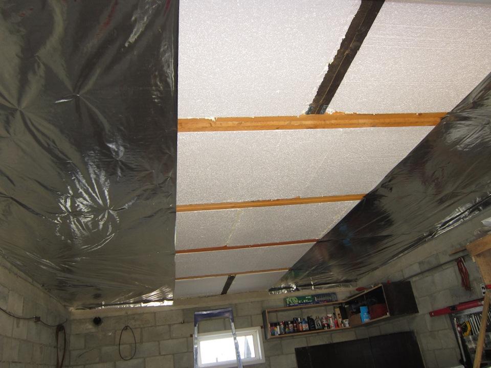 защита потолка от холода