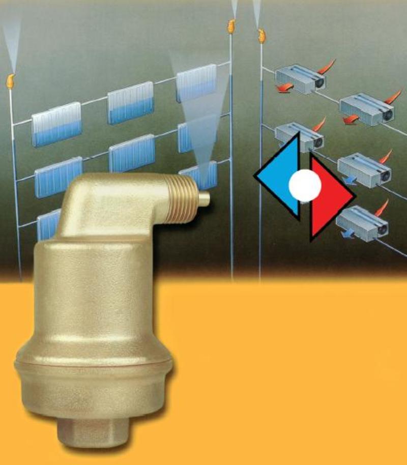 Правила установки автоматического воздухоотводчика для отопления