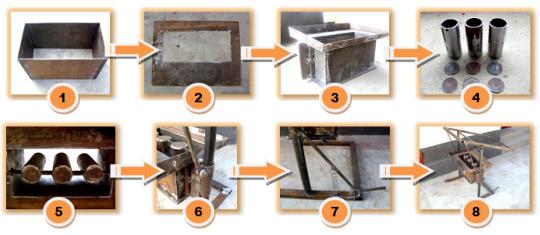 Схема изготовления оборудования для шлакоблоков