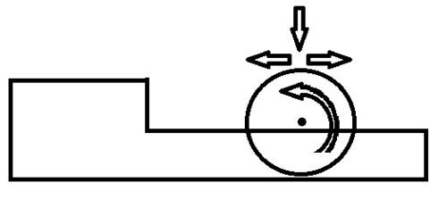 Схема приспособления для вырезания шаров из пенопласта