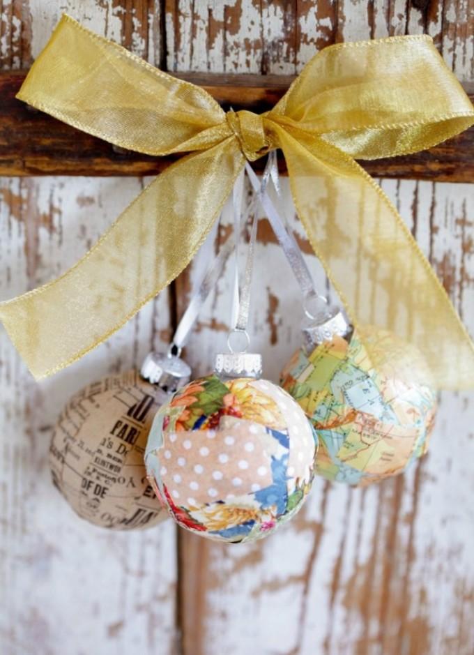Идеи красивых новогодних шаров