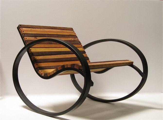 кресло качалка из профиля