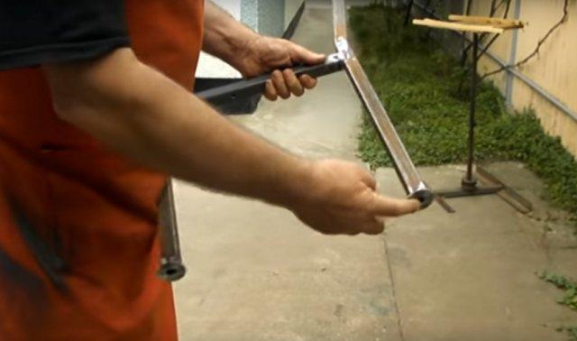 Как сделать садовую лавочку из профильной трубы своими руками