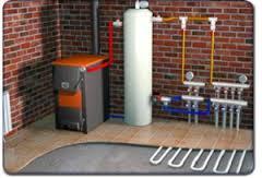 газовый котел и водянй тёплый пол