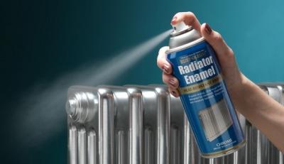 Радиатор окрашенный серебрянкой