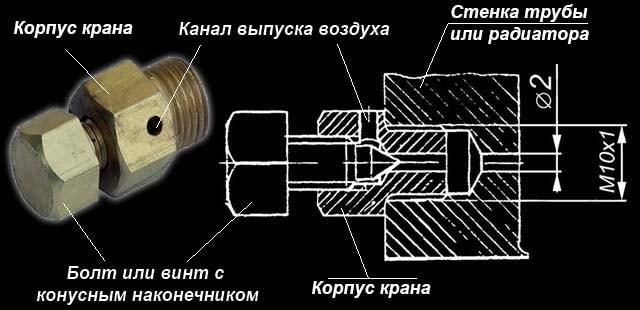 Клапан сброса воздуха – чертеж в разрезе