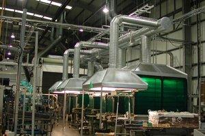Система воздухообмена в производственном цехе