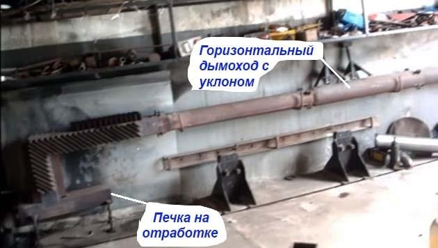 Устройство дымохода гаражной печки