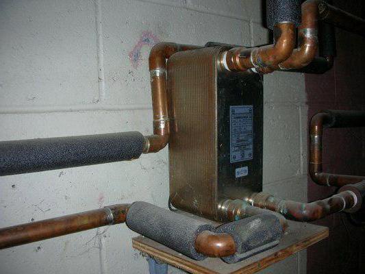 битермический теплообменник на систему отопления и гвс