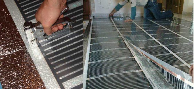 Укладка теплого пола под ламинат: полосы не должны перекрываться