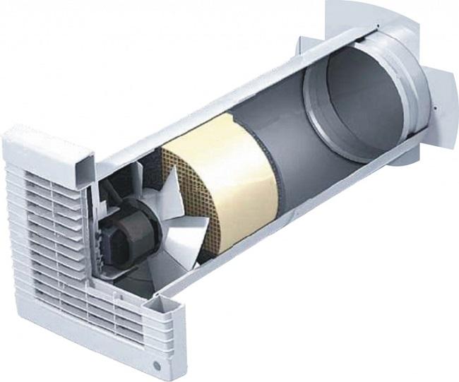приточный стеновой клапан с вентилятором