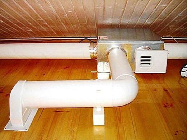 Система вентиляции в доме из бруса