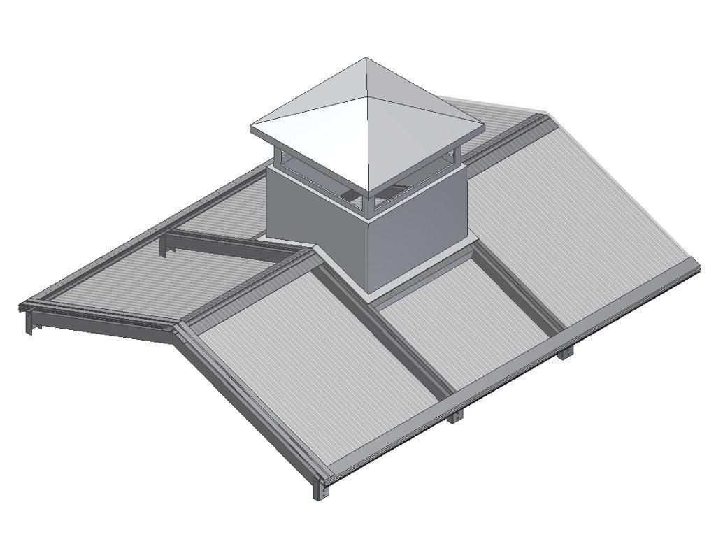 Вентканалы выводятся на крышу
