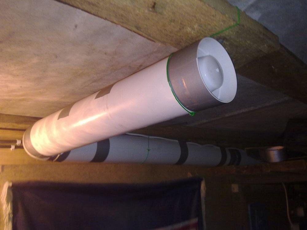 Вентиляция с одной трубой