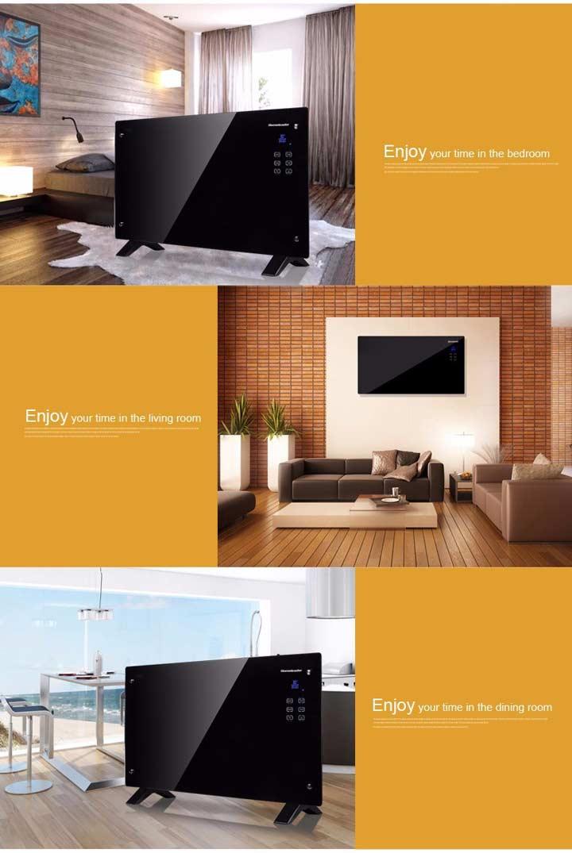 модели инфракрасных обогревателей в интерьере комнаты